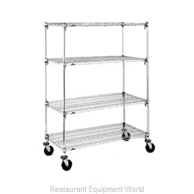 Intermetro A436BC Super Adjustable Super Erecta Stem Caster Cart