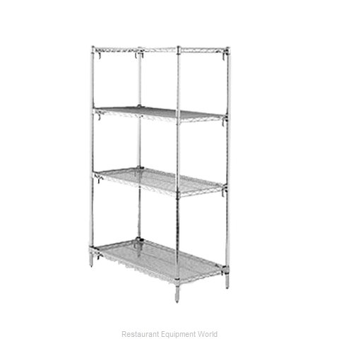 Intermetro A576C Shelving Unit, Wire (Magnified)