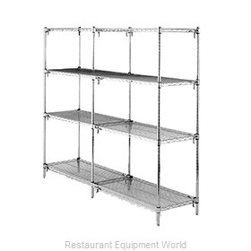 Intermetro AA376C Shelving Unit, Wire