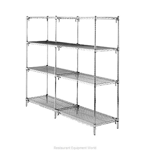Intermetro AA376K3 Shelving Unit, Wire (Magnified)
