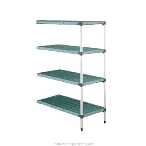 Intermetro AQ416G3 Shelving Unit, Plastic with Metal Post (Magnified)