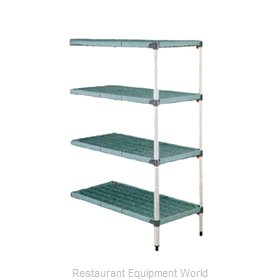 Intermetro AQ566G3 Shelving Unit, Plastic with Metal Post