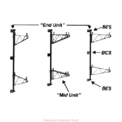 Intermetro BES Super Erecta End Bracket (Magnified)