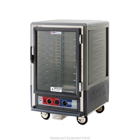 Intermetro C535-HFC-L-GY Heated Holding Cabinet Mobile Half-Height