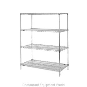 Intermetro EZ2436NC-4 Shelving Unit, Wire