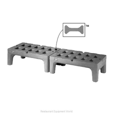 Intermetro HP2248PDMB Dunnage Rack Louvered Slotted