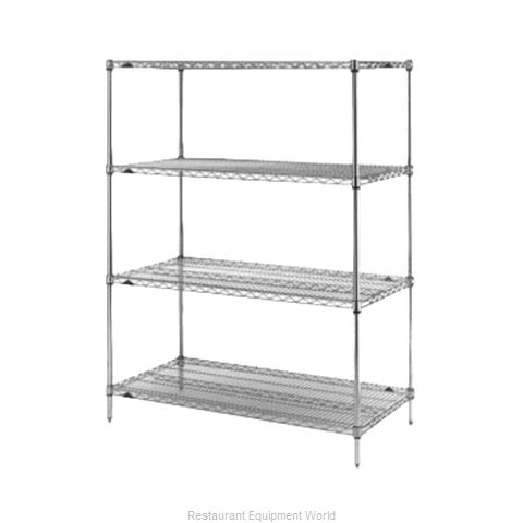 Intermetro N376BR Shelving Unit, Wire (Magnified)