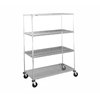 Intermetro N556EC Super Erecta Stem Caster Cart