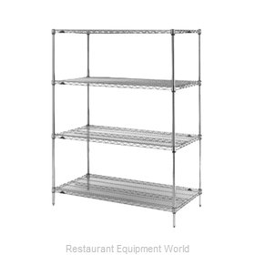Intermetro N566BR Shelving Unit, Wire