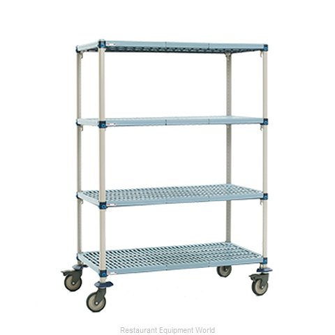 Intermetro Q466EG3 Shelving Unit, Plastic with Metal Post (Magnified)