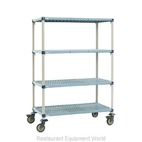 Intermetro Q466EG3 Shelving Unit, Plastic with Metal Post
