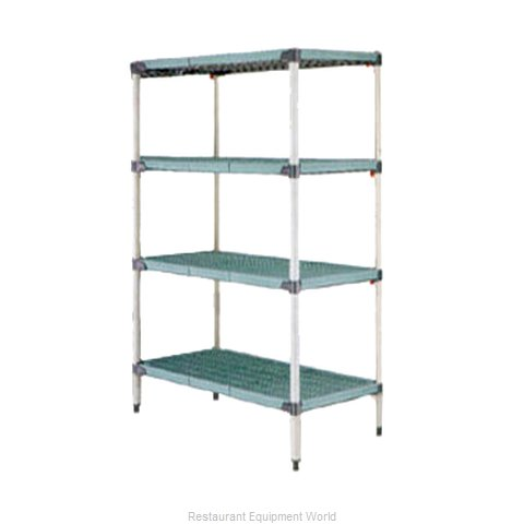 Intermetro Q476G3 Shelving Unit, Plastic with Metal Post (Magnified)