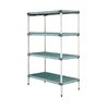 Intermetro Q556G3 Shelving Unit, Plastic with Metal Post