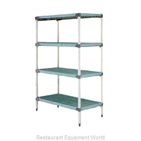 Intermetro Q576G3 Shelving Unit, Plastic with Metal Post