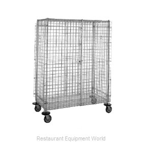 Intermetro SEC53S-SD Stainless Steel Mobile Security Cart