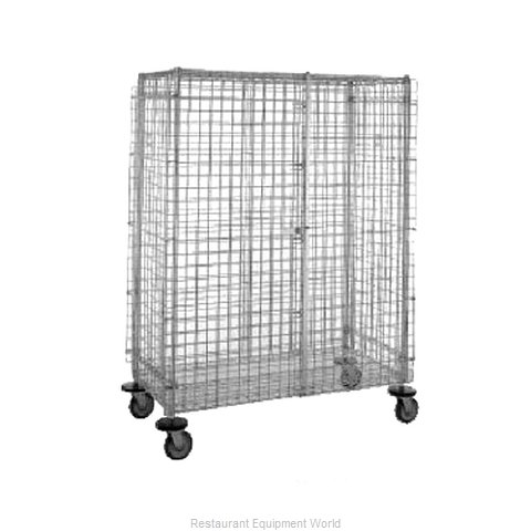 Intermetro SEC55S-SD Stainless Steel Mobile Security Cart