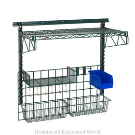 Intermetro SWK36-1A2-SR Shelving, Wall Grid Unit