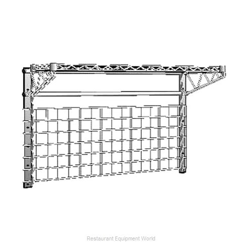 Intermetro WG1836BR Shelving, Wall Grid Panel (Magnified)