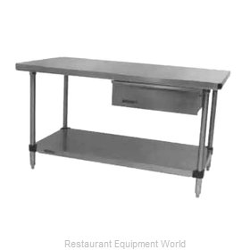 Intermetro WT309FC Work Table 96 Long Stainless steel Top