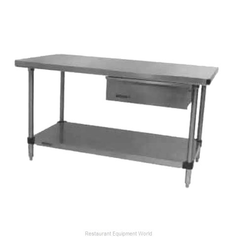 Intermetro WT447FC Work Table 72 Long Stainless steel Top