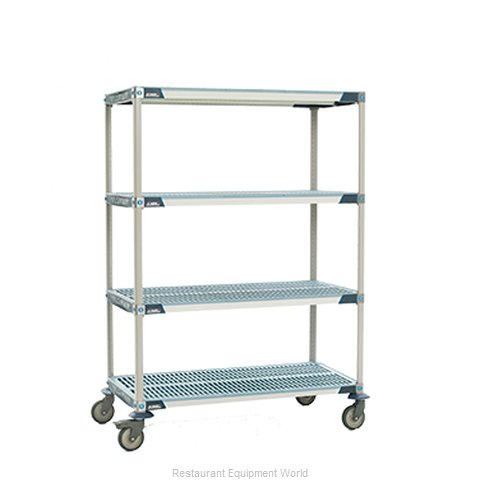 Intermetro X336BGX3 MetroMax-i Stem Caster Cart, open grid shelf