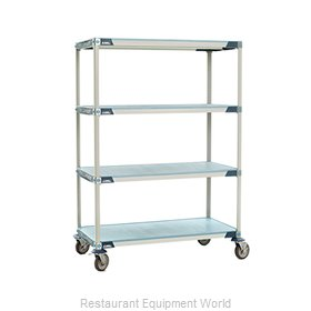 Intermetro X336EFX3 MetroMax-i Stem Caster Cart, solid shelf
