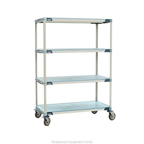 Intermetro X556EFX3 MetroMax-i Stem Caster Cart, solid shelf