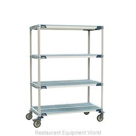 Intermetro X566BGX3 MetroMax-i Stem Caster Cart, open grid shelf