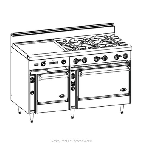 Jade Range JBR-10-36 Range 60 10 Open Burners