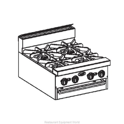 Jade Range JBR-12-M Range 72 12 Open Burners (Magnified)