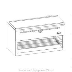 Jade Range JBR-CM36-RM Cheesemelter, Gas