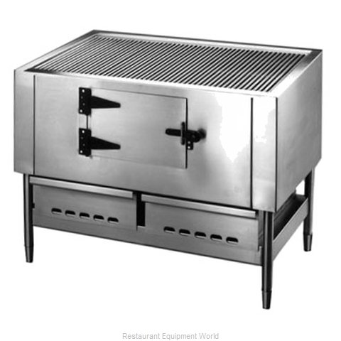Jade Range JLB-36 Charbroiler, Wood Burning