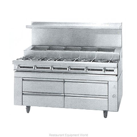 Jade Range JMSS-06-T-72 Range 72 6 open burners front cold pan rear