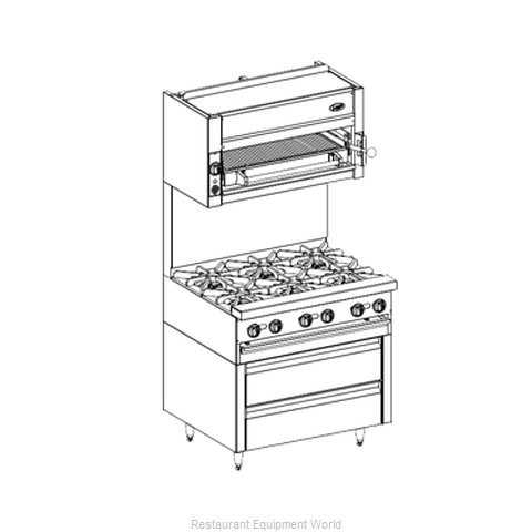 Jade Range JRLH-02R-B-36 Refrigerated Counter Griddle Stand