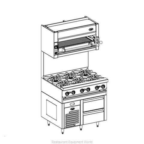 Jade Range JRLH-02S-B-36 Refrigerated Counter Griddle Stand