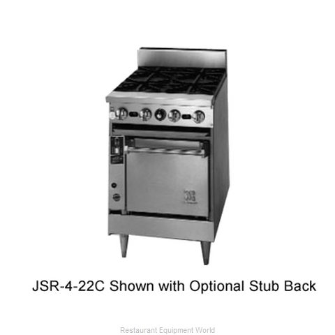 Jade Range JSR-2-12G-22C Range 24 2 open burners 12 griddle