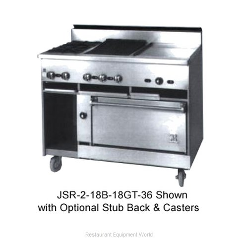 Jade Range JSR-2-24G-36C Range 36 2 open burners 24 griddle