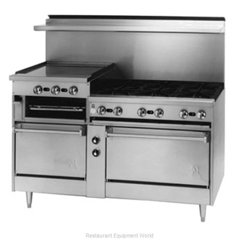 Jade Range JSRB-12G-4 Range 36 4 open burners 12 griddle broiler