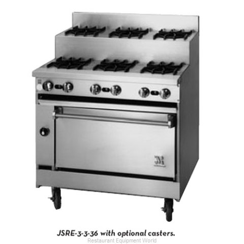 Jade Range JSRE-4-3-36C Range 36 7 step-up burners