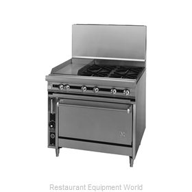 Jade Range JTRH-12G-4-36 Range 36 4 open burners 12 griddle