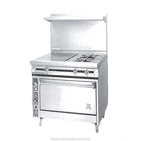 Jade Range JTRH-18G-2-36 Range 36 2 open burners 18 griddle