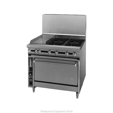 Jade Range JTRH-24G-2-36C Range 36 2 open burners 24 griddle