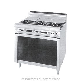 Jade Range JTRH-3ST Range 36 3 open burners front 3 hot tops rear