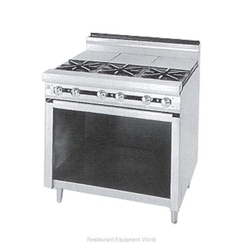 Jade Range JTRH-4ST Range 48 4 open burners front hot tops rear