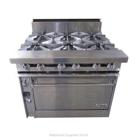 Jade Range JTRH-6-36C Range 36 6 open burners (Magnified)