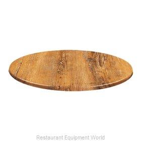 JMC Food Equipment 24 ROUND ATACAMA CHERRY Table Top, Solid Surface