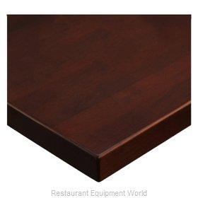 JMC Food Equipment 24 ROUND BEECHWOOD PLANK DARK MAHOGANY Table Top, Wood