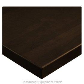 JMC Food Equipment 24 ROUND BEECHWOOD PLANK DARK WALNUT Table Top, Wood