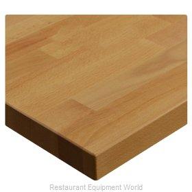 JMC Food Equipment 24 ROUND BEECHWOOD PLANK NATURAL Table Top, Wood