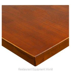 JMC Food Equipment 24 ROUND BEECHWOOD PLANK WALNUT Table Top, Wood